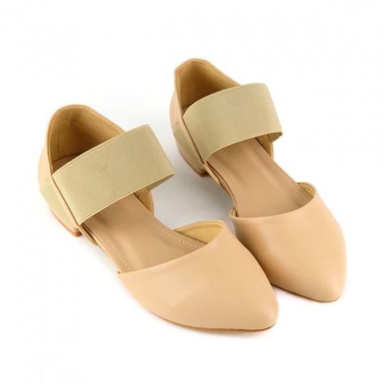 Giày búp bê êm chân Sunday BB21 màu kem