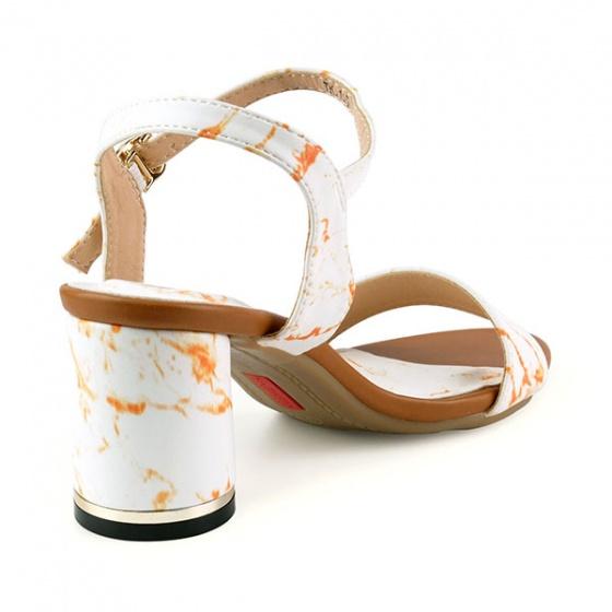 Sandal đế vuông êm chân Sunday DV48 vân nâu