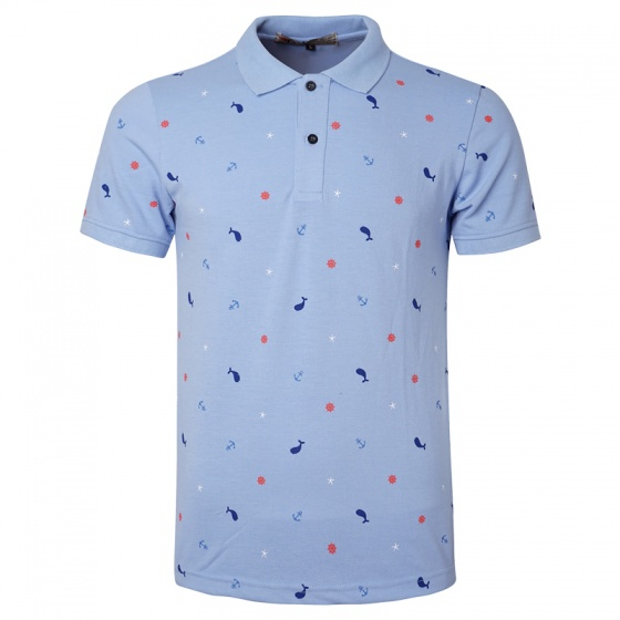 Bộ 3 áo thun nam cổ bẻ họa tiết biển xanh chuẩn mọi phong cách Pigofashion cao cấp AHT20 xám, trắng, xanh biển
