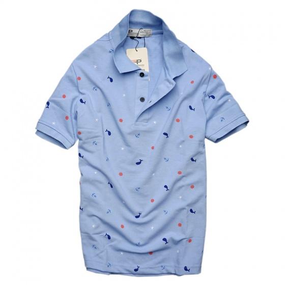 Bộ 3 áo thun nam cổ bẻ họa tiết biển xanh chuẩn mọi phong cách Pigofashion cao cấp AHT20 xanh đen, xám, xanh biển