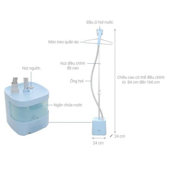 Bàn ủi hơi nước đứng Panasonic NI-GSE050ARA