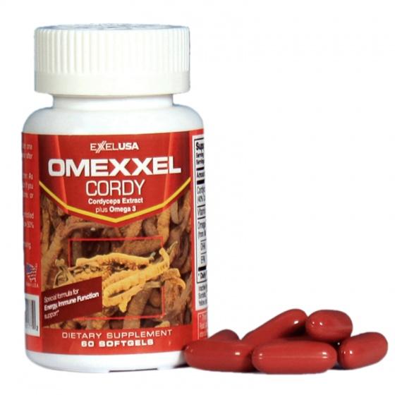 Viên uống đông trùng hạ thảo Omexxel Cordy ( Lọ 60 Viên) - xuất xứ Mỹ + tặng 1 chai dầu tràm 30ml