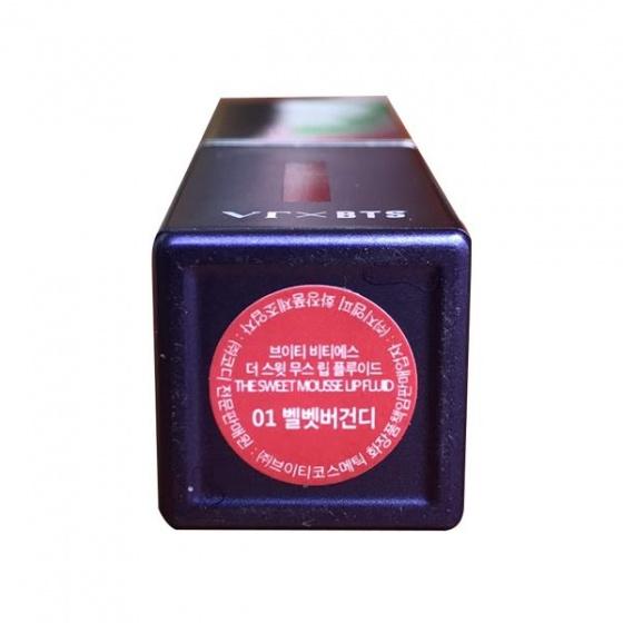 Son môi The Sweet Mousse Lip Fluid Màu 01 - đỏ nhung