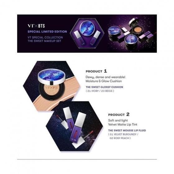 Set mỹ phẩm trang điểm Hàn Quốc ( VT X BTS) THE SWEET SPECIAL EDITION 23