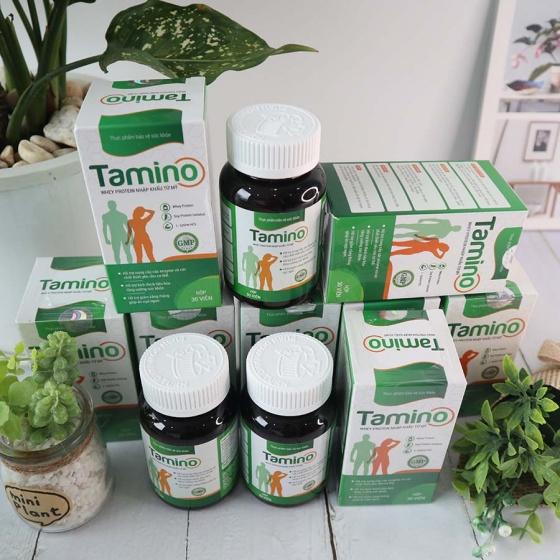 (Combo 4 hộp) viên uống tăng cân Tamino bổ sung hợp chất Whey Protein từ mỹ