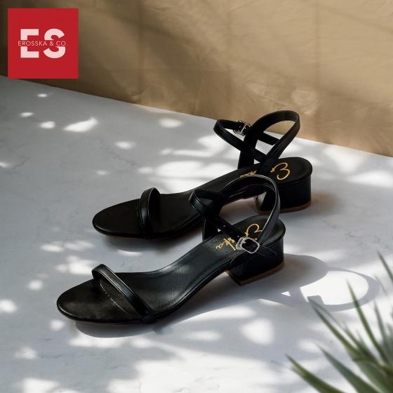 Giày nữ, giày sandal nữ gót vuông Erosska EB003 cao 3 cm quai mảnh thời trang (BA)