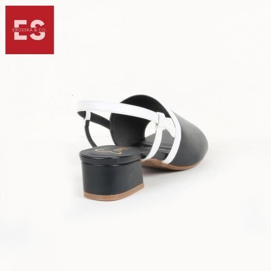 Giày nữ, giày cao gót block heel đế vuông Erosska cao 3cm phối dây thời trang - EM011 (BA)