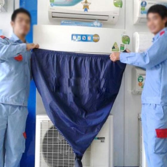 Túi trùm hứng nước vệ sinh máy lạnh điều hòa 1HP - 3HP MTM