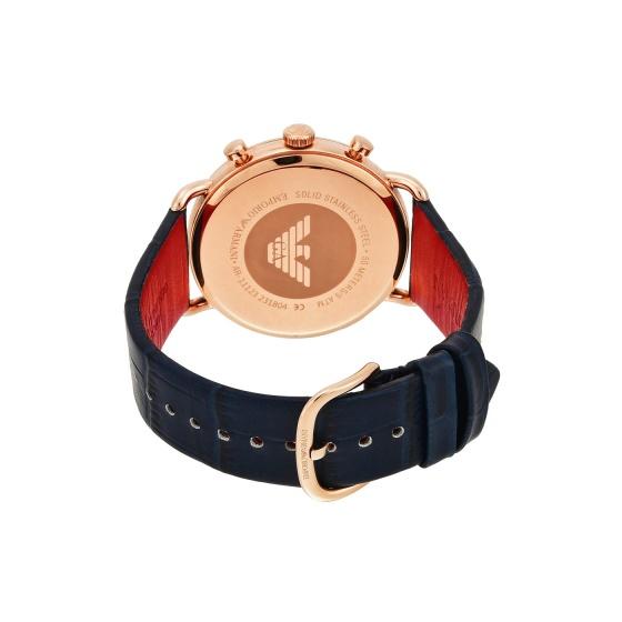 Đồng hồ nam chính hãng Emporio Armani AR11123 bảo hành toàn cầu - Máy pin dây da tổng hợp