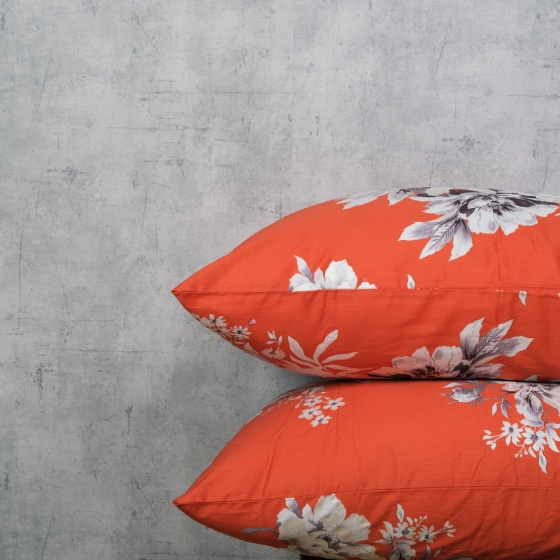 Bộ chăn drap cotton satin Hàn Quốc 5 món Glowing Floral 03 1m8x2m
