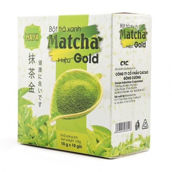 Hộp trà xanh Matcha Gold Nhật Bản 100g + quà tặng