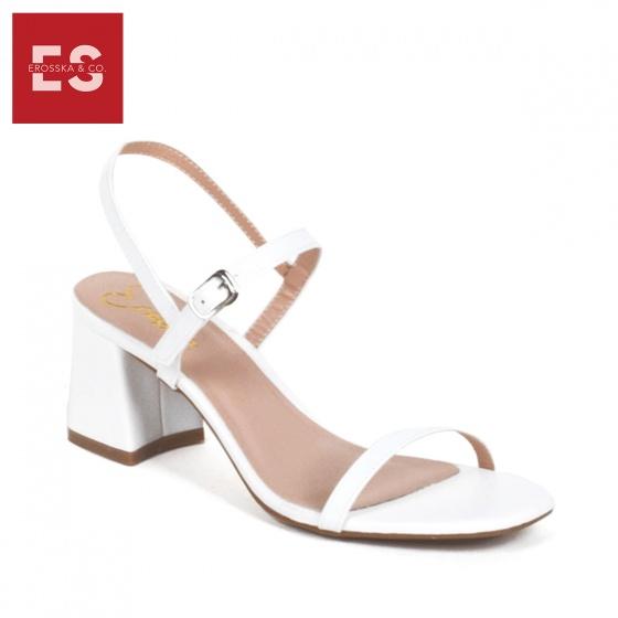 Giày nữ, giày cao gót block heel Erosska đế vuông quai mảnh tinh tế cao 7cm - EM019 (BR)