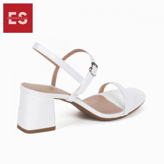 Giày nữ, giày cao gót block heel Erosska đế vuông quai mảnh tinh tế cao 7cm - EM019 (WH)