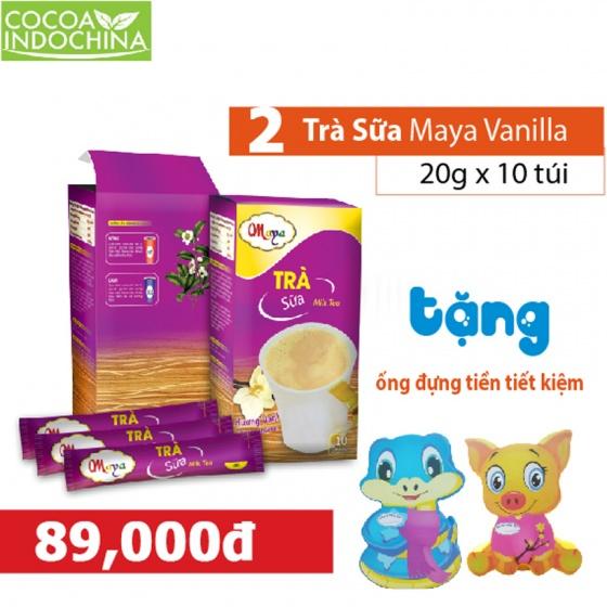 Combo 2 hộp trà sữa hòa tan Maya vani + quà tặng