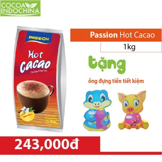 Passion hot ca cao túi 1kg + quà tặng