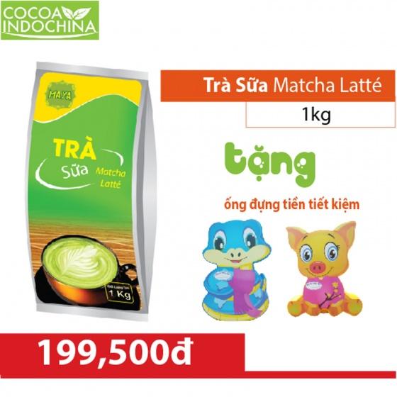 Trà sữa hòa tan Matcha Latte Nhật Bản túi 1kg + quà tặng