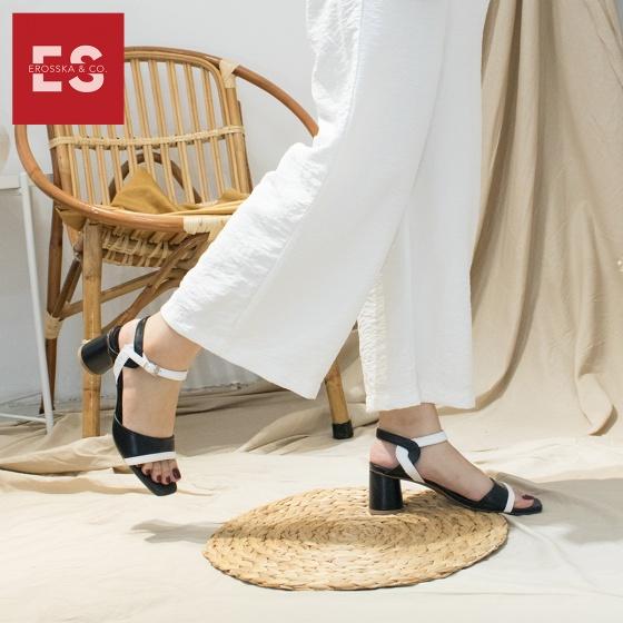 Giày cao gót nữ block heels Erosska cao 5cm mũi vuông thời trang thiết kế phối màu sang trọng - EB002 (BA)