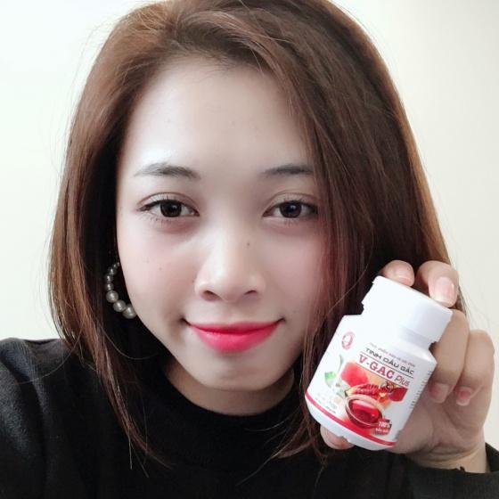 V-Gac Plus - viên nang dầu gấc nguyên chất, giúp chăm sóc sức khỏe đôi mắt và ngừa lão hóa giúp da trắng sáng, mịn màng