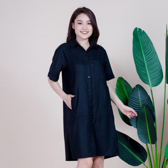 Váy dạng áo, chất liệu cotton, phù hợp với mùa thu