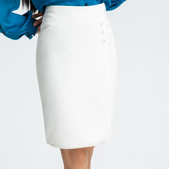 Váy đắp vạt Hity SKI029 (trắng kim cương)