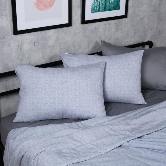 Bộ chăn drap lụa modal Hàn Quốc 5 món Sheer Abstract 03 1m8x2m