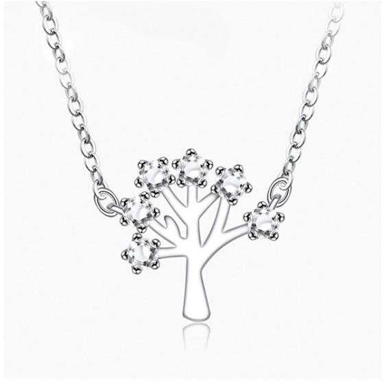 Dây chuyền mạ bạc happy tree - Tatiana - DB2561