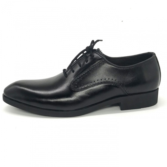 Giày tây buộc dây nam da bò cao cấp Lucacy N106B - Tặng ví da cao cấp