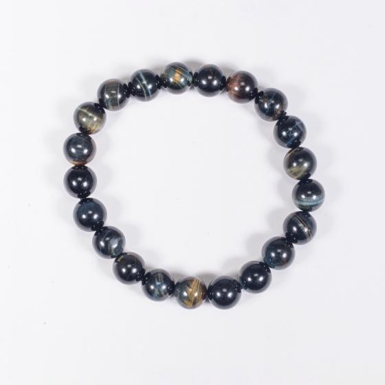 Vòng tay phong thủy nữ đá mắt hổ xanh đen 8mm mệnh thủy , mộc - Ngọc Quý Gemstones