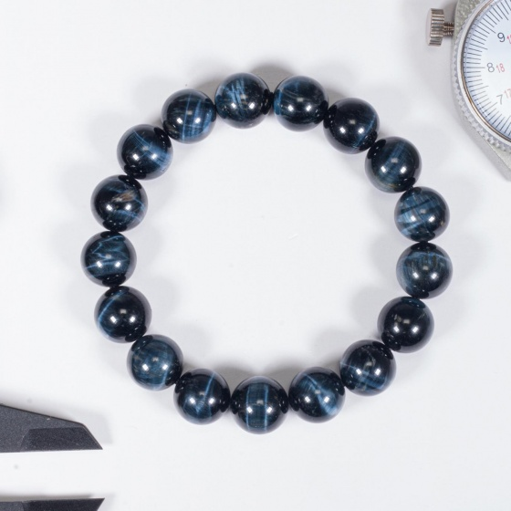 Vòng tay phong thủy đá mắt ưng 10mm mệnh thủy, mộc - Ngọc Quý Gemstones