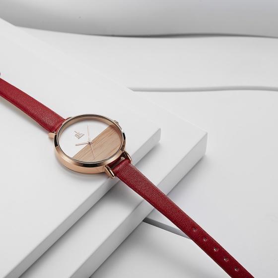 (SIÊU SALE) Đồng hồ nữ chính hãng Shengke UK K8036L-04 đỏ