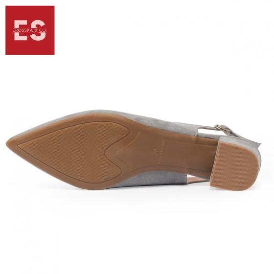 Giày nữ, giày cao gót vuông slingback Erosska bít mũi độc đáo cao 3 cm EL011 (NU)