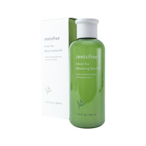 Nước hoa hồng dưỡng ẩm Innisfree Green Tea Balancing Skin Ex 2019