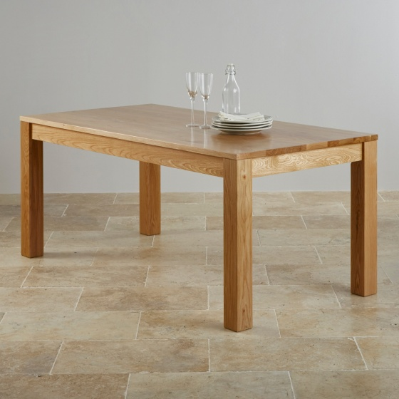 Bàn ăn 6 chỗ Capri gỗ sồi 1m8 (180x80cm) - Cozino