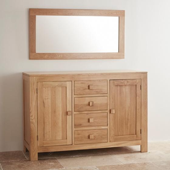 Gương treo tường capri 1m2 gỗ sồi - Cozino