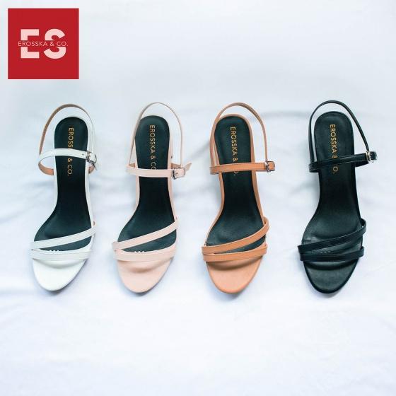 Giày nữ, giày cao gót đế vuông Erosaska cao 3cm thời trang thiết kế phối màu sang trọng EB006 (PI)