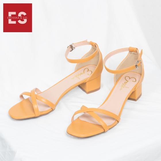 Giày nữ, giày cao gót đế vuông Erosska cao 3cm thời trang thiết kế phối màu sang trọng EB005 (nd)