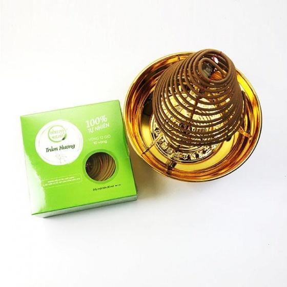 Bộ sản phẩm thờ cúng nhang vòng 12h + phụ kiện đồng - nhang thiền