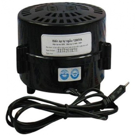 Biến áp đổi nguồn hạ áp 1 pha LiOA  1.2KVA (đen)- DN012