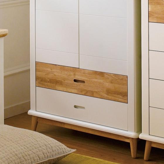 Tủ quần áo Canna gỗ cao su 1m2 - Cozino