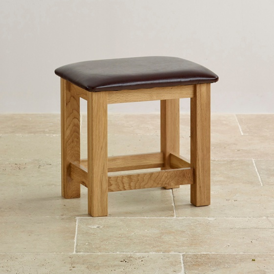 Ghế đôn bàn trang điểm Camber gỗ sồi - Cozino