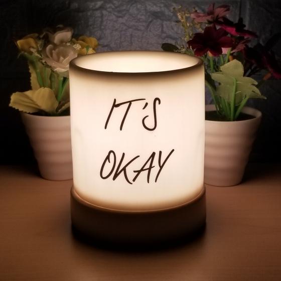 Đèn xông tinh dầu gốm bát tràng dáng ống tặng 01 tinh dầu 10ml (mùi tự chọn) và 01 bóng đèn dự phòng (ON03)
