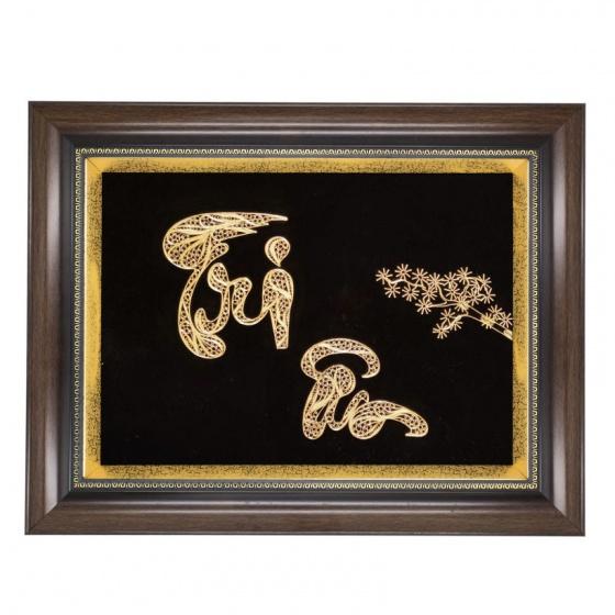 Tranh chữ Tri Ân mạ vàng size lớn - Quà tặng doanh nghiệp ý nghĩa