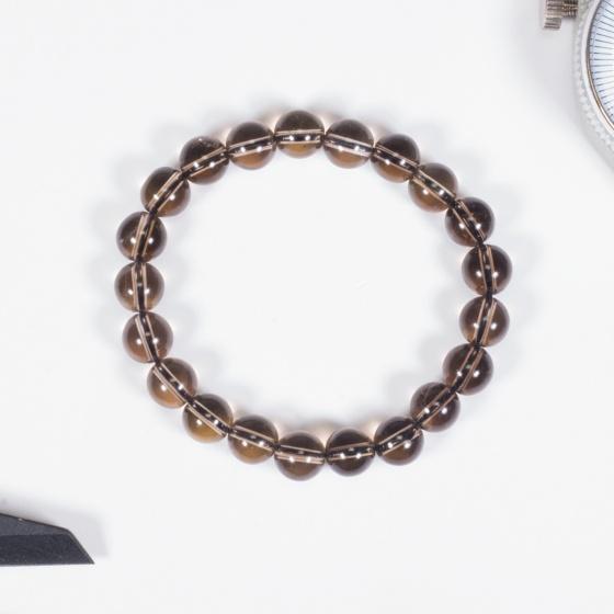 Vòng tay phong thủy nữ đá thạch anh khói 8mm mệnh thổ, kim - Ngọc Quý Gemstones