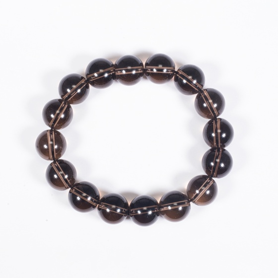 Vòng tay phong thủy đá thạch anh khói 12mm mệnh thổ, kim - Ngọc Quý Gemstones