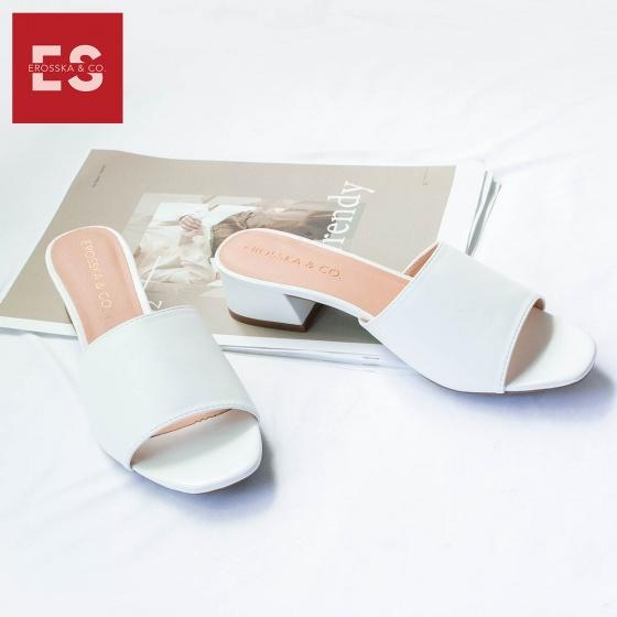 Dép nữ, dép cao gót vuông mules Erosska cao 3cm EM024 (NU)