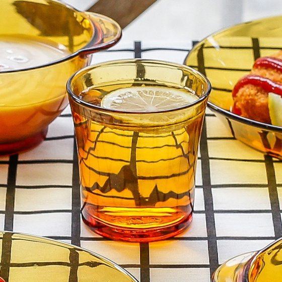 Bộ 6 ly thủy tinh chịu lực Duralex Pháp Lý Amber 210ml