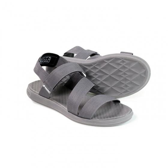 Giày sandal nam nữ Saddo - màu ghi đậm đế bằng