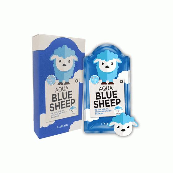 (SIÊU SALE) Mặt nạ dưỡng ẩm, chống lão hóa Rainbow L'affair Aqua Blue Sheep Mask (10 miếng x 25ml)