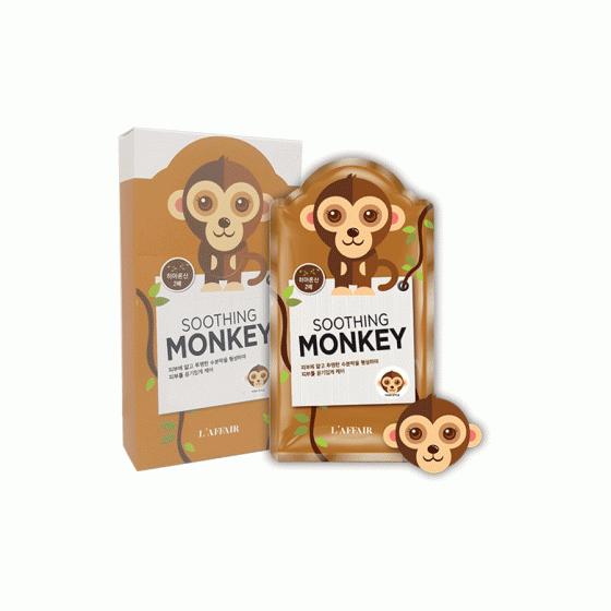 Mặt nạ chống lão hóa, ngừa mụn, săn chắc da Rainbow L'affair Soothing Monkey Mask (10 miếng x 25ml)