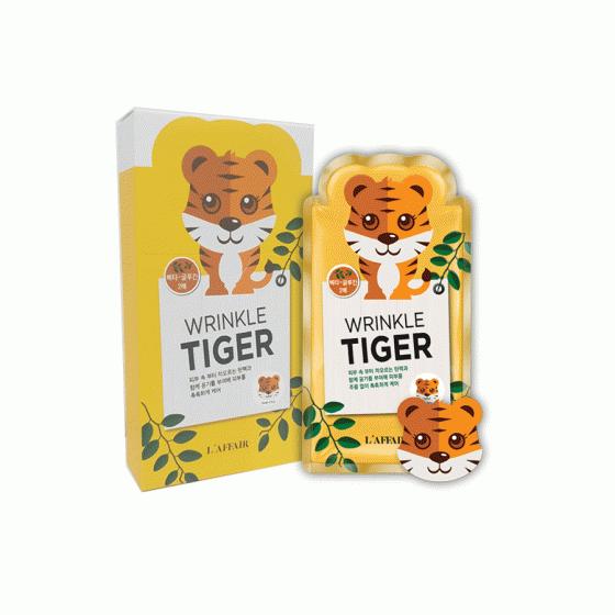 Mặt nạ chống nhăn, giữ ẩm, săn chắc da Rainbow L'affair Wrinkle Tiger Mask (10 miếng x 25ml)